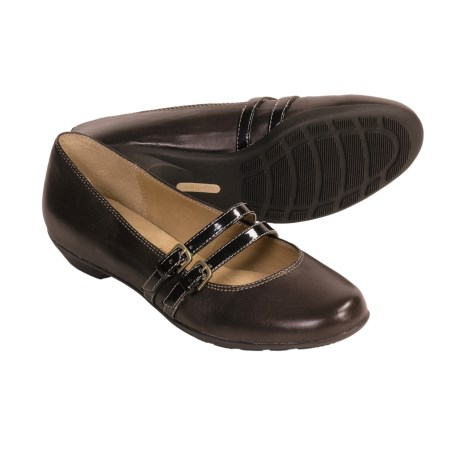 Softspots Pilar Shoes - Mary Janes (For Women) in Mahogany