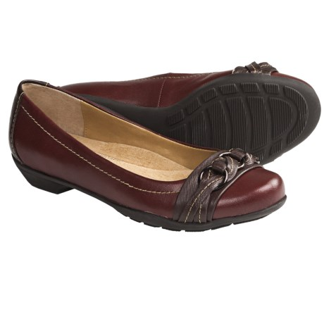 SoftSpots Posie Shoes - Leather, Slip-Ons (For Women) in Jewel Red