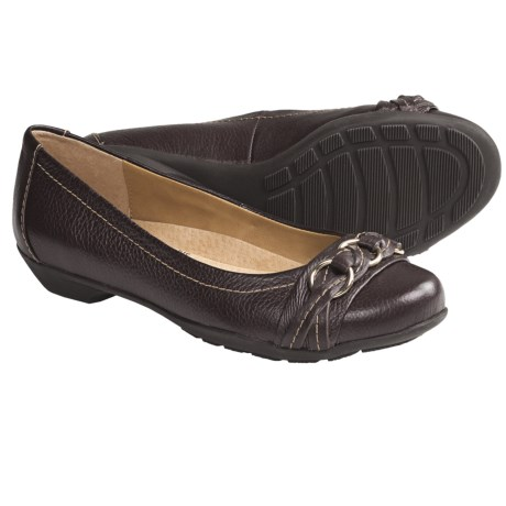 SoftSpots Posie Shoes - Leather, Slip-Ons (For Women) in Redwood
