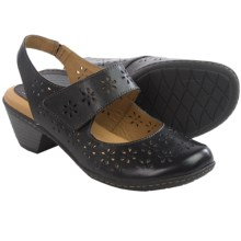 Softspots Safia Sling-Back Mary Jane Shoes - Leather (For Women) in Black - Closeouts