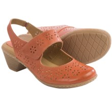 Softspots Safia Sling-Back Mary Jane Shoes - Leather (For Women) in Peach - Closeouts