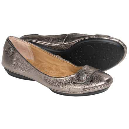 Softspots Satara Leather Flats (For Women) in Anthracite - Closeouts