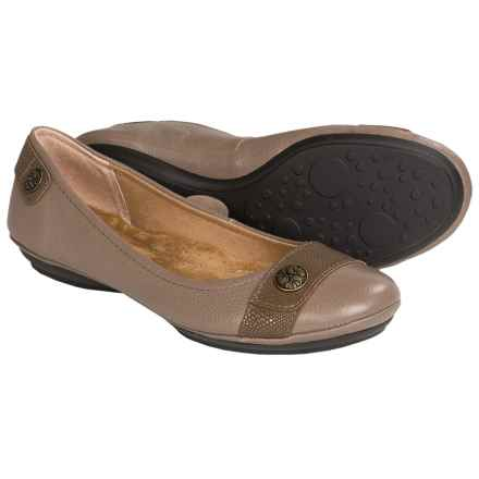 Softspots Satara Leather Flats (For Women) in Plover Grey - Closeouts