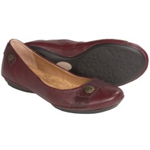 Softspots Satara Leather Flats (For Women) in Red - Closeouts
