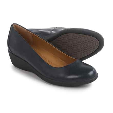 Softspots Savannah Shoes - Leather, Slip-Ons (For Women) in Navy - Closeouts