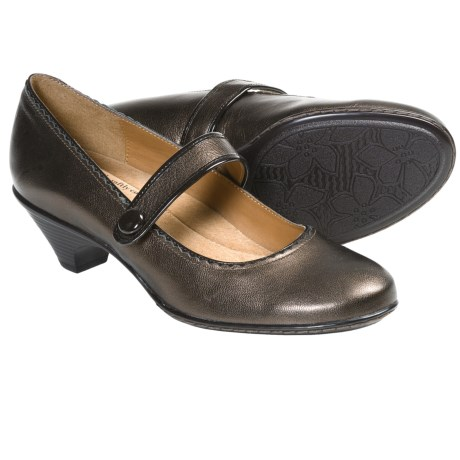 Softspots Shandie Mary Jane Shoes - Leather, Kitten Heel (For Women) in Copper