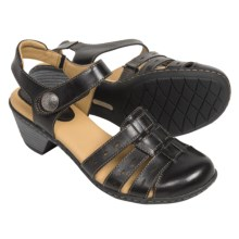 Softspots Shelly Leather Sandals (For Women) in Black - Closeouts