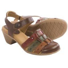 Softspots Shelly Leather Sandals (For Women) in Cognac Multi - Closeouts