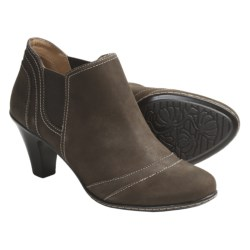 SoftSpots Sookie Ankle Boots - Leather (For Women) in Taupe Grey Suede