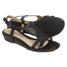 Softspots Susanna Ankle Strap Sandals (For Women) in Black - Closeouts