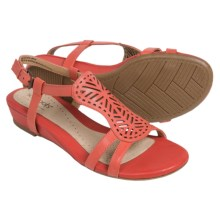 Softspots Susanna Ankle Strap Sandals (For Women) in Red Tangerine - Closeouts