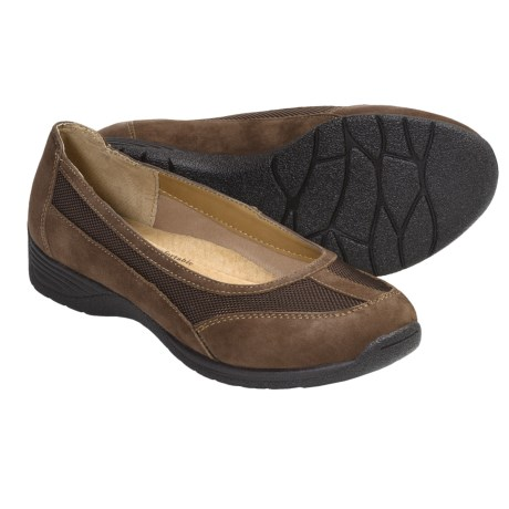 SoftSpots Taite Slip-On Shoes (For Women) in Brown Suede