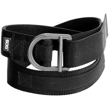 SOG Tactical Nylon Webbing Belt in Black