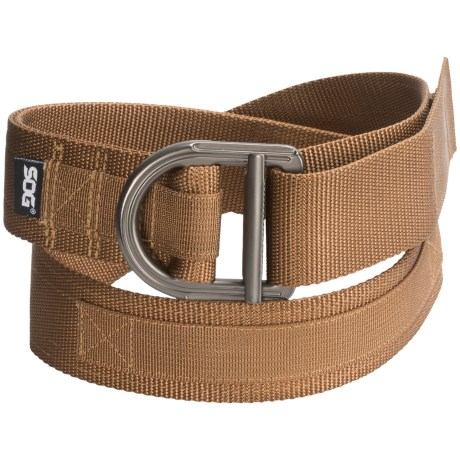 SOG Tactical Nylon Webbing Belt in Brown