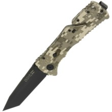 SOG Trident Folding Knife - Straight Edge, Black TiNi Blade, Digi Camo in See Photo - Closeouts
