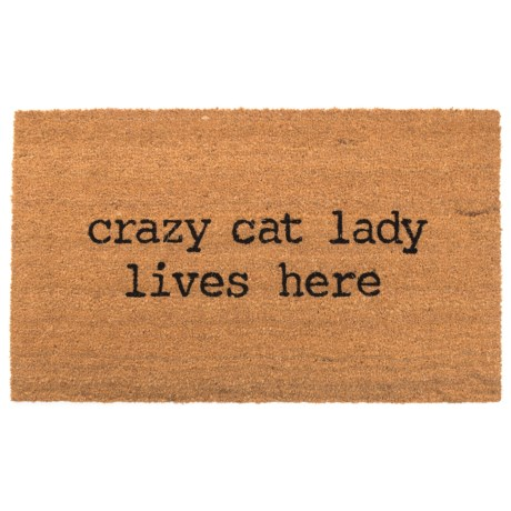 "SOHO Crazy Cat Lady Lives Here Door Mat - 20x34"" in See Photo"
