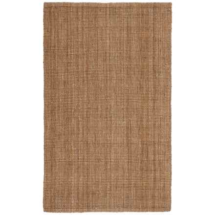 "SOHO Hand-Spun Jute Boucle Area Rug - 4'11""x7'11"" in Natural - Closeouts"