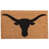 """SOHO Longhorn Bull Print Door Mat - 18x30"""""""