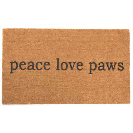 "SOHO Peace Love Paws Door Mat - 20x34"" in See Photo - Closeouts"