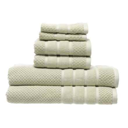 SOHO Textured Velour Bath Towel Set - 6-Piece in Thyme - Closeouts