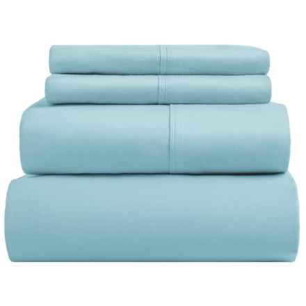 SoHome Studio Cotton Sheet Set - King, 610 TC in Medium Blue - Overstock