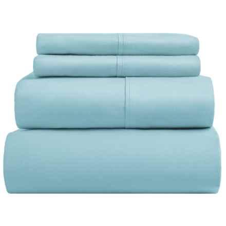 SoHome Studio Cotton Sheet Set - King, 610 TC in Medium Blue - Overstock