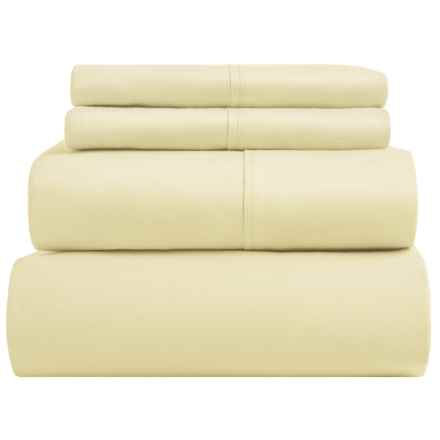 SoHome Studio Cotton Sheet Set - King, 610 TC in Pale Yellow - Overstock
