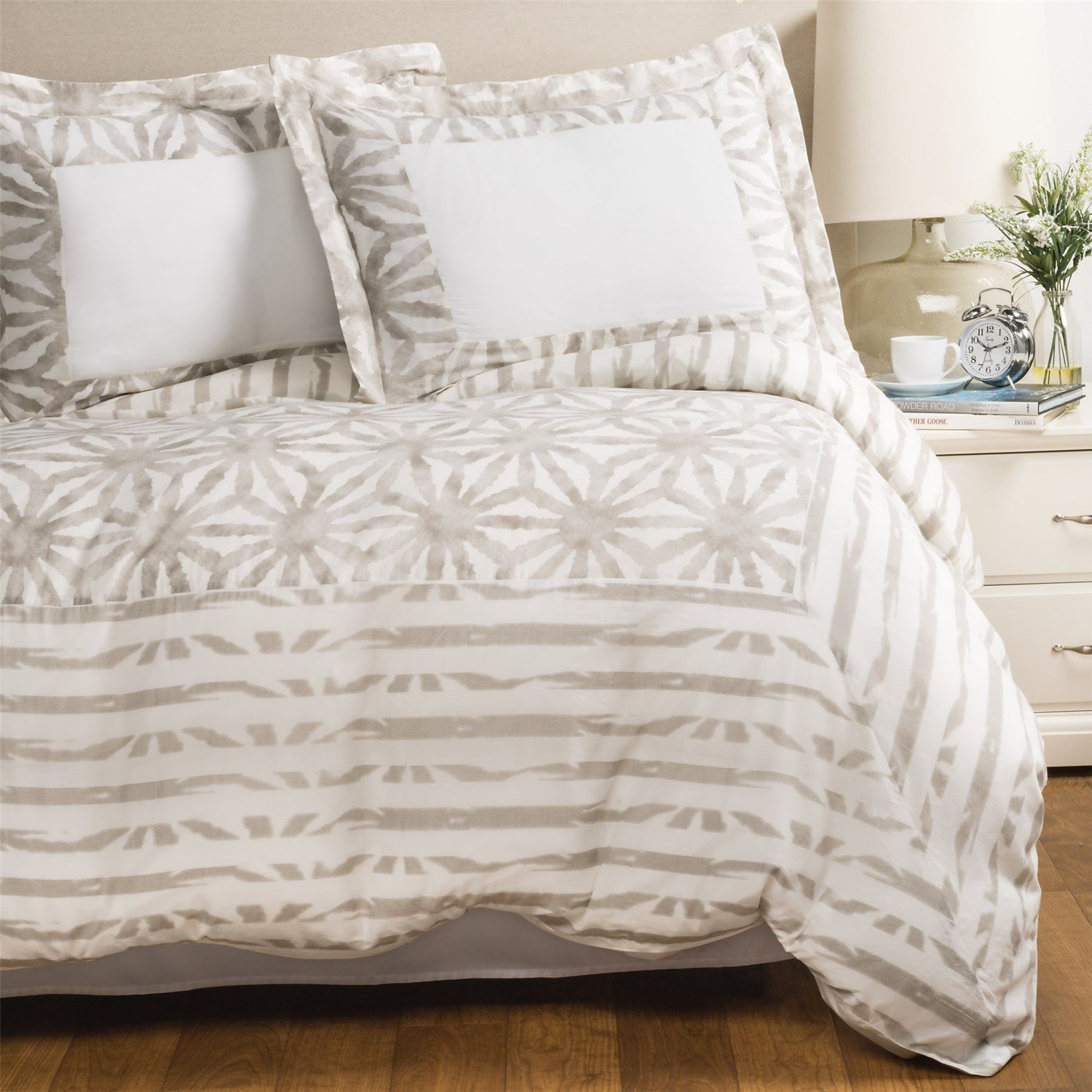 sohome studio karauli collection duvet cover set king in taupe