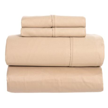 SoHome Studio Pale Yellow Cotton Sateen Sheet Set - King, 610 TC in Pale Yellow