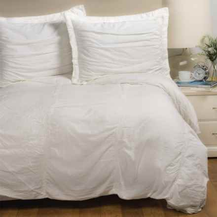 SoHome Studio Sohome Studio Tenali Collection Duvet Cover Set - Queen in White - Closeouts