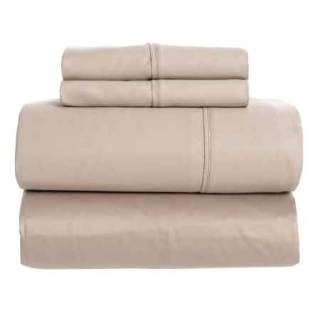 SoHome Studio Taupe Cotton Sateen Sheet Set - Queen, 610 TC in Taupe - Closeouts