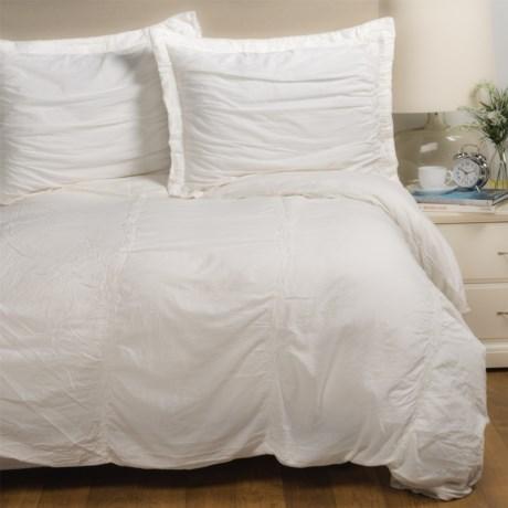 Sohome Studio Tenali Collection Duvet Cover Set - King in White