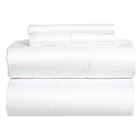 SoHome Studio White Cotton Sateen Sheet Set - King, 610 TC in White