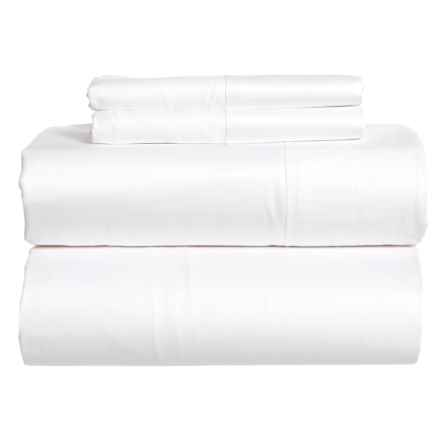 SoHome Studio White Cotton Sateen Sheet Set - Queen, 610 TC in White - Closeouts