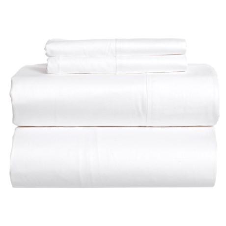 SoHome Studio White Cotton Sateen Sheet Set - Queen, 610 TC in White