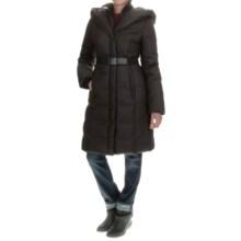 SOIA & KYO Allan Down Puffer Coat - Trim Fit (For Women) in Black - Overstock