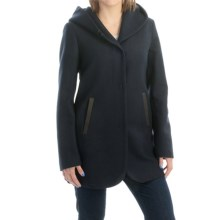 SOIA & KYO Bernice Wool Coat (For Women) in Midnight - Overstock
