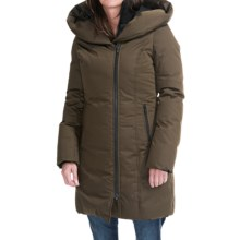 SOIA & KYO Carmella Down Coat - Trim Fit, Wool Blend (For Women) in Military - Closeouts