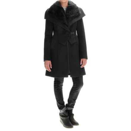 SOIA & KYO Fei Coat - Trim Fit, Wool Blend (For Women) in Black - Overstock