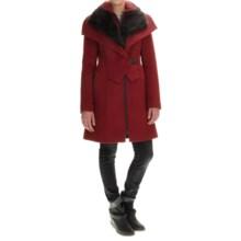 SOIA & KYO Fei Coat - Trim Fit, Wool Blend (For Women) in Oxblood - Overstock