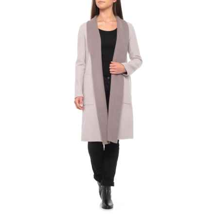 SOIA & KYO Isadora Wool Wrap Coat (For Women) in Putty - Closeouts