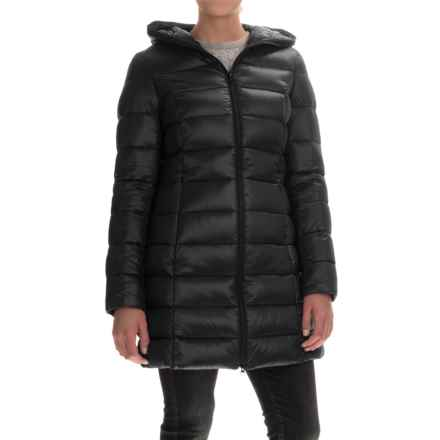 SOIA & KYO Maya Long Down Coat - Trim Fit (For Women) in Black - Overstock