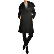 SOIA & KYO Tiany Coat - Wool Blend, Trim Fit (For Women) in Black - Overstock