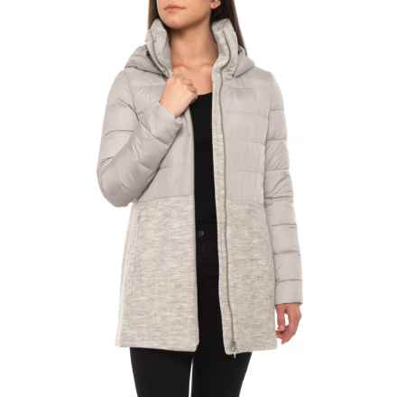 SOIA & KYO Valery Mixed Media Jacket (For Women) in Ash - Closeouts