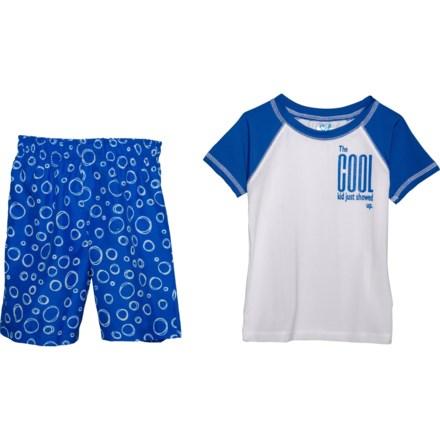bc5b55175b Sol Swim Cool Kid Rash Guard and Swim Trunks Set - UPF 50, Short Sleeve