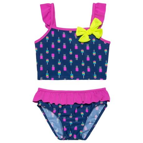 Sol Swim Neon Popsicles Bikini Set - UPF 50 (For Toddler Girls) in Neon Popsicles