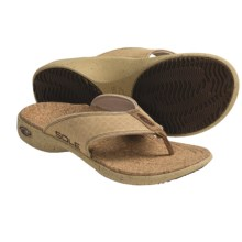 Sole Casual Flip-Flop Sandals - Hemp, Recycled Materials (For Men) in Napa Tan - Closeouts