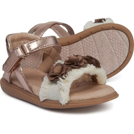 SolePlay Clemente Sandals (For Girls) in Natural/Rose Gold