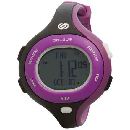 Soleus Chicked Sports Watch (For Women) in Black/Purple/White - Closeouts