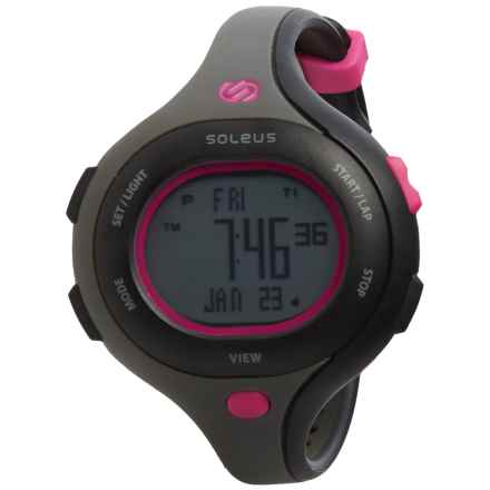 Soleus Chicked Sports Watch (For Women) in Black/Rhored/Black - Closeouts